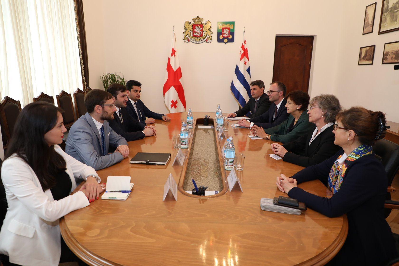 თორნიკე რიჟვაძე ევროპის საინვესტიციო ბანკის (EIB) წარმომადგენლებს შეხვდა
