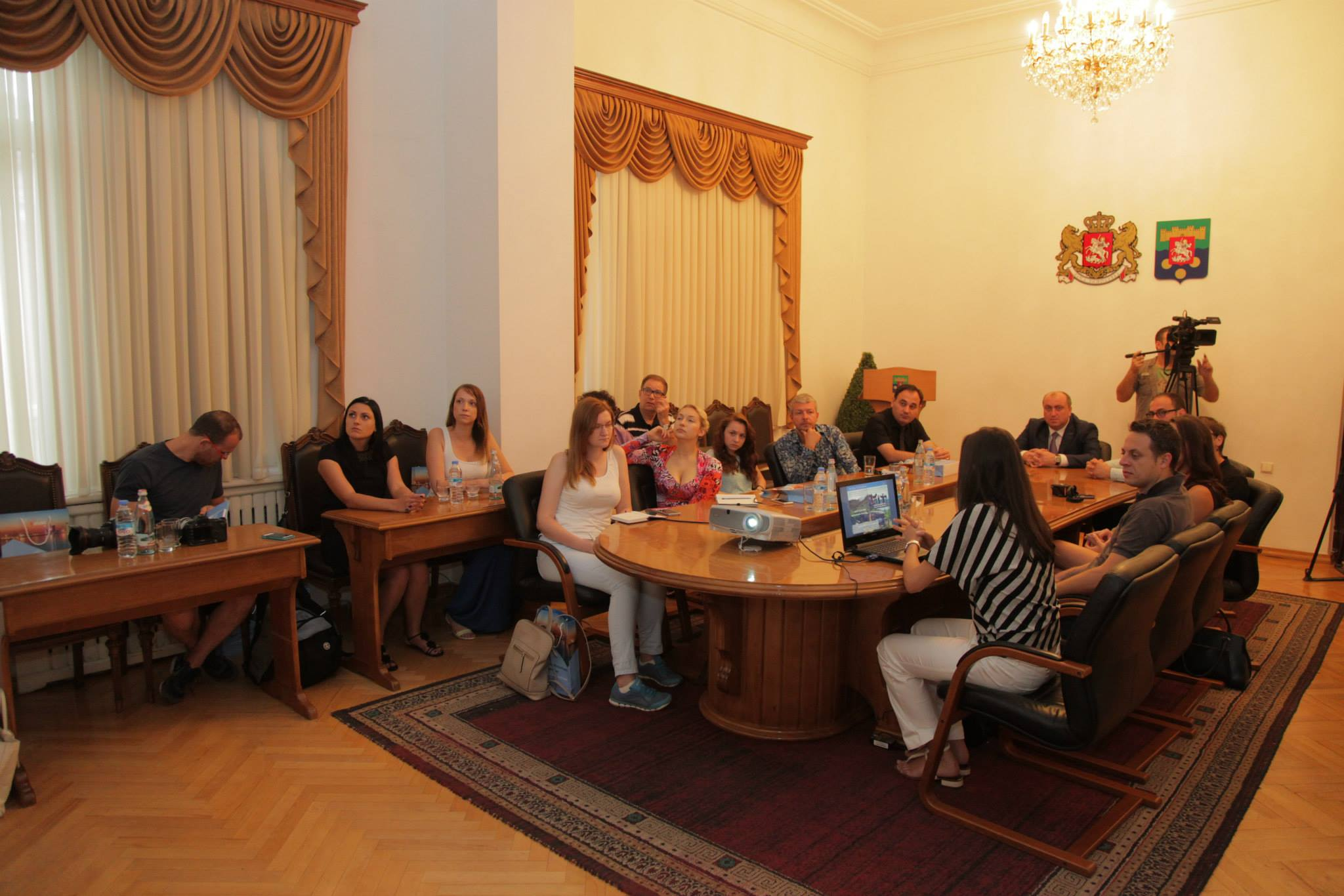 ბელორუს და ებრაელ ჟურნალისტებთან შეხვედრა