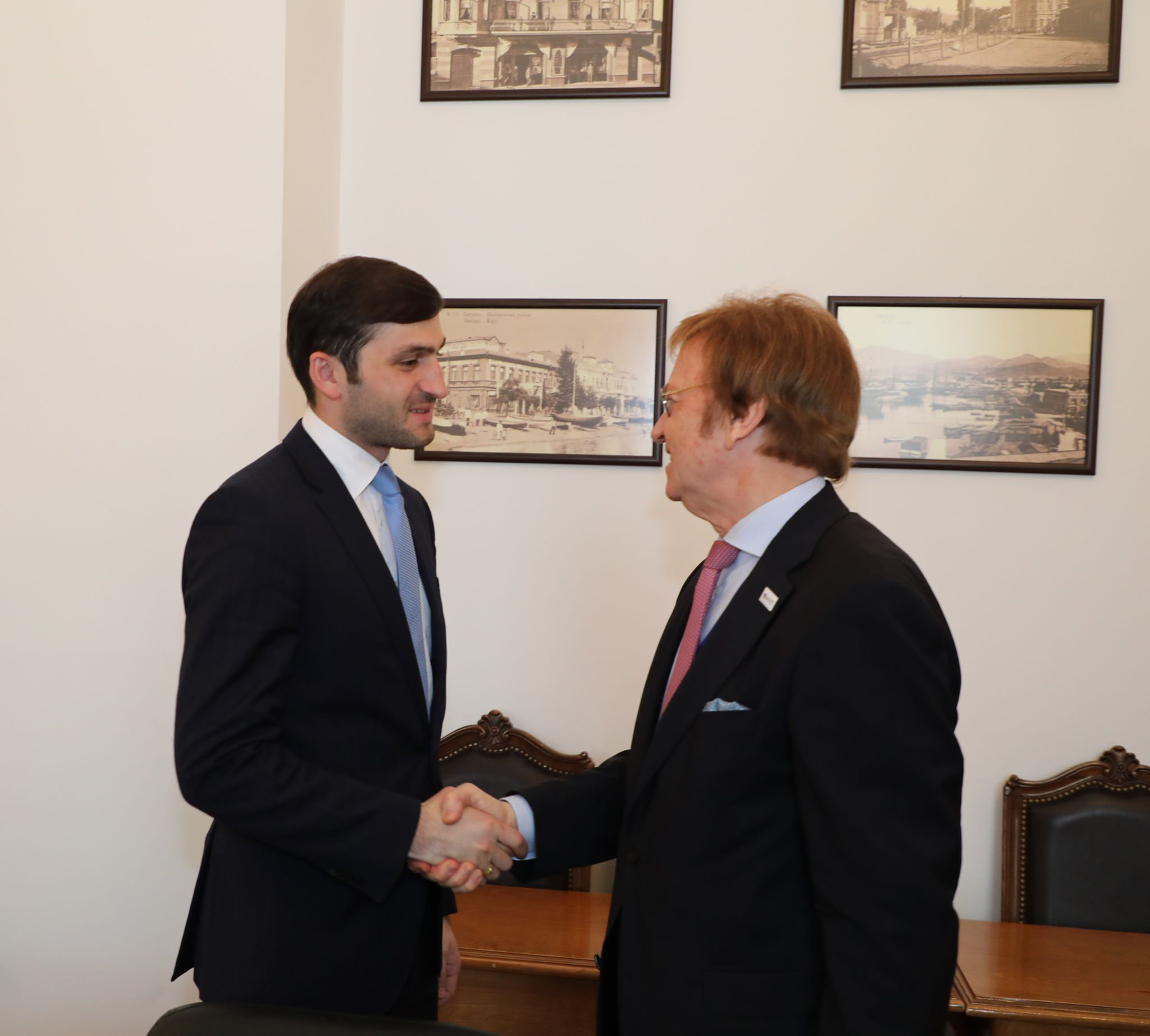 მსოფლიო სავაჭრო ცენტრის პოლონეთის ორგანიზაციის ხელმძღვანელ ჟაკ ტურელთან შეხვდა