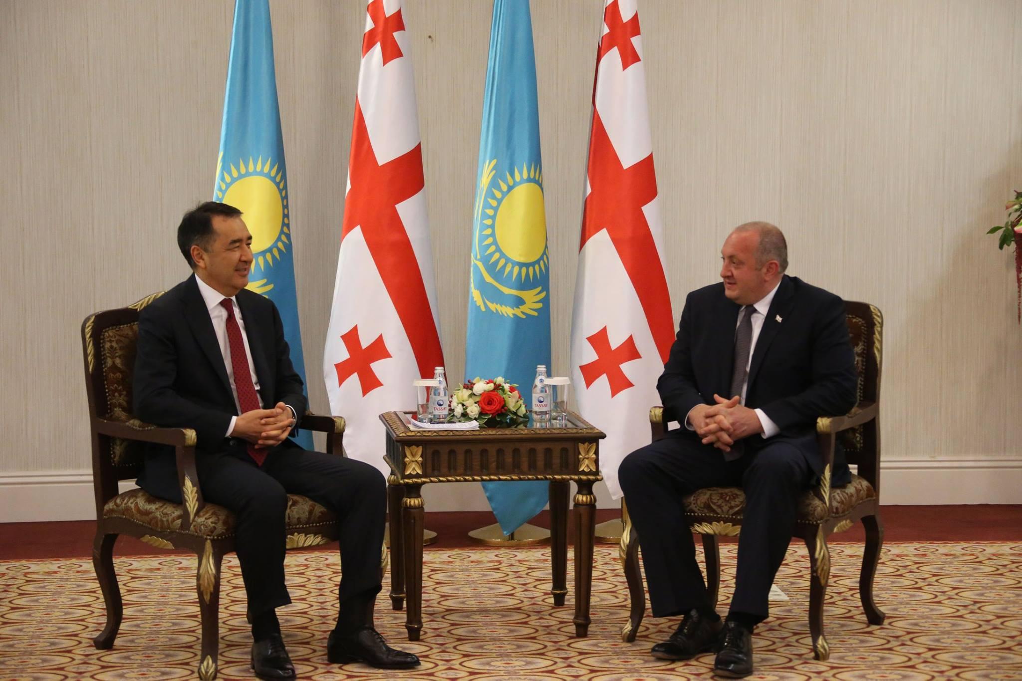 შეხვედრა ყაზახეთის პრემიერ-მინისტრთან ბაკიტჟან საგინტაევთან